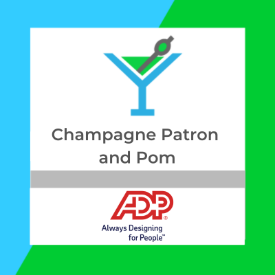 Champagne Patron and Pom